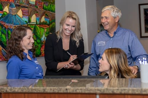 Dr Felts and Dr Randal meeting with staff members DR. Elizabeth Felts Chattanooga TN